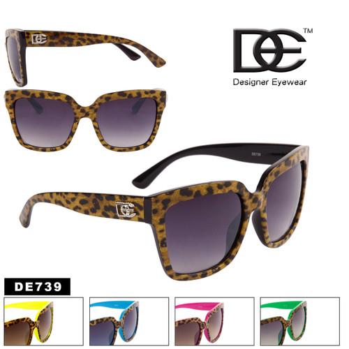 Boxy Cat Eye Cheetah Print Sunglasses - Style #DE739