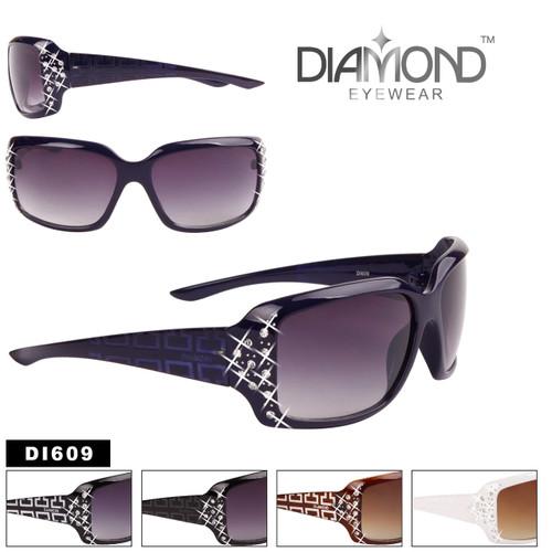 Diamond™ Over-Sized Square Rhinestone Embedded Sunglasses - Style #DI609