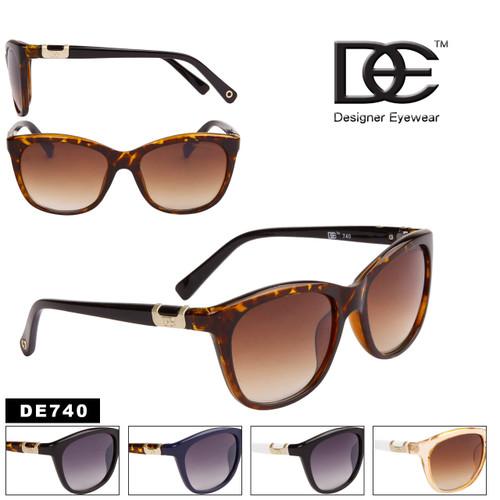 DE™ Designer Eyewear Two-Color Fashion Sunglasses - Style #DE740