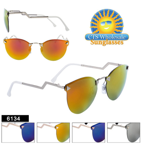 Retro Aviators with Mirrored Lens - Style #6134