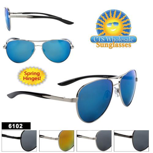 Aviator Sunglasses - Style #6102 Spring Hinge!