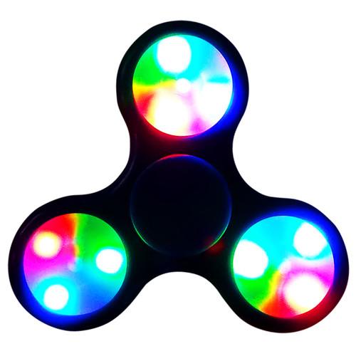 Black LED Fidget Spinners