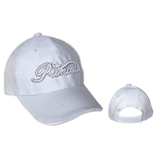 """Wholesale Infant Cap """"Princess"""" White"""
