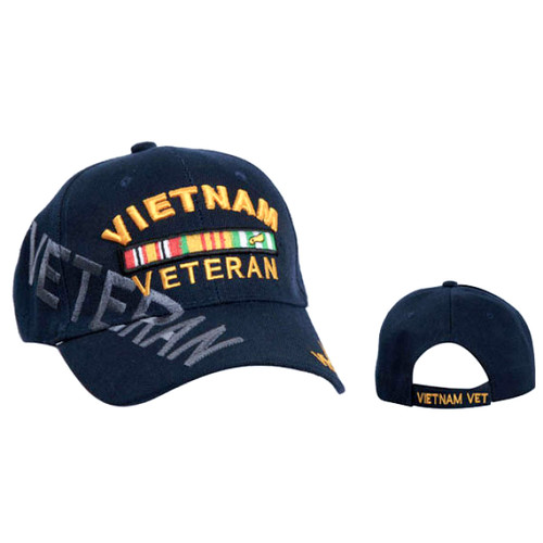 Wholesale Vietnam Veteran Cap Navy Blue