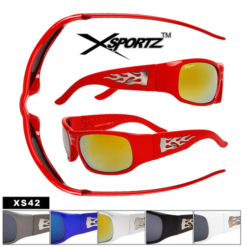 XS42 Sunglasses with Flames