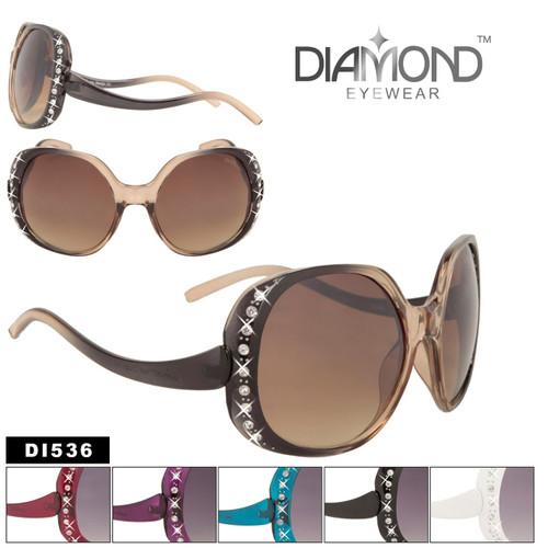 DI536 Vintage Rhinestone Sunglasses