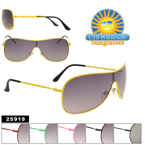One Piece Lens Sunglasses in Six Different Frame Colors Item # 25919