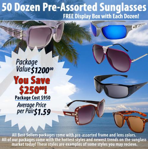 50 Dozen Package Deal   Assorted Sunglasses