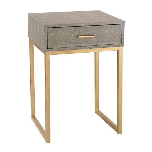 Sterling 180-010 Shagreen Side Table in Grey