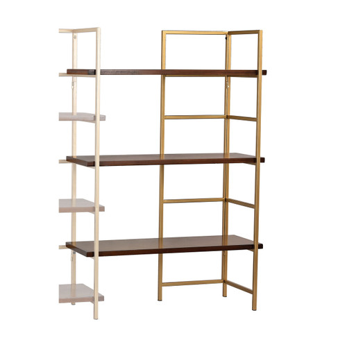 Sterling 351-10167EXT Balart Gold and Walnut Extension for Shelf Unit