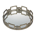 Sterling 114-89 Iron Scroll Mirrored Tray