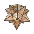 Sterling 1145-003 Moravian Star Flushmount in Gold