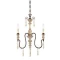 Millennium Lighting 7303-AW/BZ Denise Chandelier in Antique White/Bronze