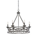 Millennium Lighting 2176-AS Lakewood Chandelier in Antique Silver