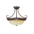 Millennium Lighting 5205-RBZ Turinian Scavo Semi Flushmount in Rubbed Bronze