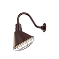 Millennium Lighting RAS12-ABR R Series Angle Warehouse Shade Light in Architectural Bronze