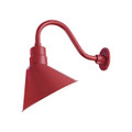 Millennium Lighting RAS12-SR R Series Angle Warehouse Shade Light in Satin Red
