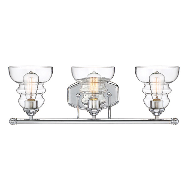 Millennium Lighting 7333 Ch Clear Vanity Light In Chrome