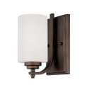 Millennium Lighting 7261-RBZ Bristo Etched White Wall Sconce in Satin Nickel