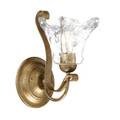 Millennium Lighting 7431-VG Chatsworth Clear Wall Sconce in Vintage Gold