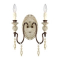 Millennium Lighting 7302-AW/BZ Denise Wall Sconce in Antique White/Bronze