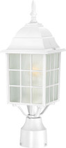 "NUVO Lighting 60/4907 Adams 1 Light 17"" Outdoor Post with Frosted Glass"