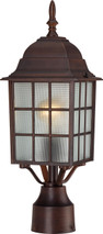 "NUVO Lighting 60/4908 Adams 1 Light 17"" Outdoor Post with Frosted Glass"