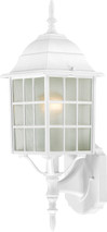 "NUVO Lighting 60/4901 Adams 1 Light 18"" Outdoor Wall with Frosted Glass"