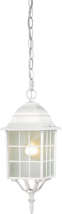 """NUVO Lighting 60/4911 Adams 1 Light 16"""" Outdoor Hanging with Frosted Glass"""