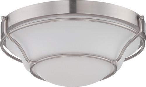NUVO Lighting 62/527 Baker LED Flushmount Fixture with Satin White Glass
