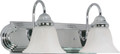 "NUVO Lighting 60/316 Ballerina 2 Light 18"" Vanity with Alabaster Glass Bell Shades"