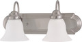 "NUVO Lighting 60/3278 Ballerina 2 Light 18"" Vanity with Frosted White Glass"