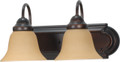 "NUVO Lighting 60/1264 Ballerina 2 Light 18"" Vanity with Champagne Linen Washed Glass"