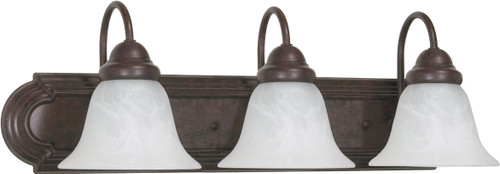 """NUVO Lighting 60/325 Ballerina 3 Light 24"""" Vanity with Alabaster Glass Bell Shades"""