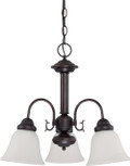 "NUVO Lighting 60/3142 Ballerina 3 Light 20"" Chandelier with Frosted White Glass"