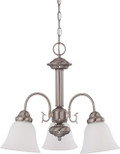 "NUVO Lighting 60/3241 Ballerina 3 Light 20"" Chandelier with Frosted White Glass"