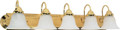 """NUVO Lighting 60/331 Ballerina 5 Light 36"""" Vanity with Alabaster Glass Bell Shades"""