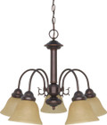 """NUVO Lighting 60/1251 Ballerina 5 Light 24"""" Chandelier with Champagne Linen Washed Glass"""