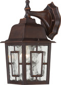 """NUVO Lighting 60/4922 Banyan 1 Light 12"""" Outdoor Wall with Clear Water Glass"""