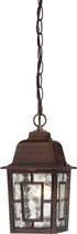 """NUVO Lighting 60/4932 Banyan 1 Light 11"""" Outdoor Hanging with Clear Water Glass"""