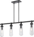 NUVO Lighting 60/5365 Beaker 4 Light Trestle Fixture with Clear Glass (Vintage Bulbs Included)