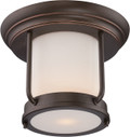 NUVO Lighting 62/633 Bethany LED Outdoor Flushmount Fixture with Satin White Glass