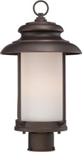 NUVO Lighting 62/634 Bethany LED Outdoor Post with Satin White Glass