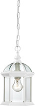 """NUVO Lighting 60/4977 Boxwood 1 Light 14"""" Outdoor Hanging with Clear Beveled Glass"""