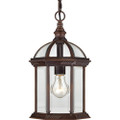 """NUVO Lighting 60/4978 Boxwood 1 Light 14"""" Outdoor Hanging with Clear Beveled Glass"""