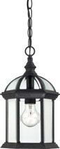 """NUVO Lighting 60/4979 Boxwood 1 Light 14"""" Outdoor Hanging with Clear Beveled Glass"""