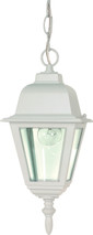"""NUVO Lighting 60/487 Briton 1 Light 10"""" Hanging Lantern with Clear Glass"""
