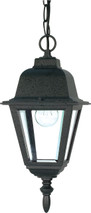 """NUVO Lighting 60/489 Briton 1 Light 10"""" Hanging Lantern with Clear Glass"""