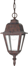 """NUVO Lighting 60/488 Briton 1 Light 10"""" Hanging Lantern with Clear Glass"""