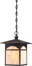 NUVO Lighting 60/5654 Canyon 1 Light Outdoor Hanging Fixture with Honey Stained Glass
